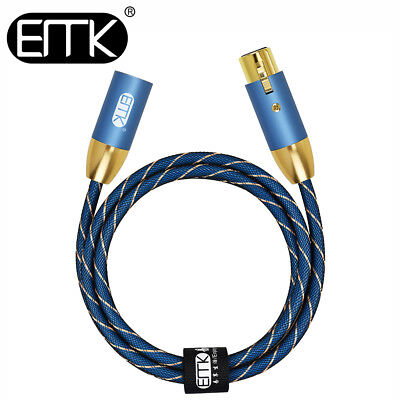 EMK Speaker 3Pin XLR Audio Cable Male to Female Balanced Lead Amplifier Mixer