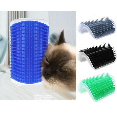 Pet Cat Self Groomer Brush Wall Corner Grooming Massage Comb Toy With Catnip AU