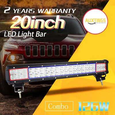 20inch 126W LED WORK LIGHT BAR COMBO Offroad DRIVING LAMP 4WD ATV UTE SUV Z