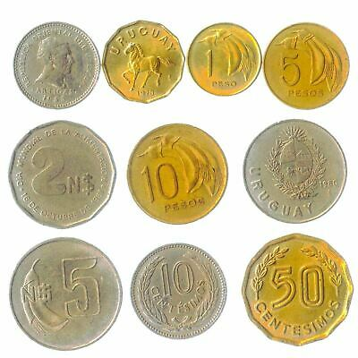 Coins From Oriental Republic Of The Uruguay South American Old Collectible Coins