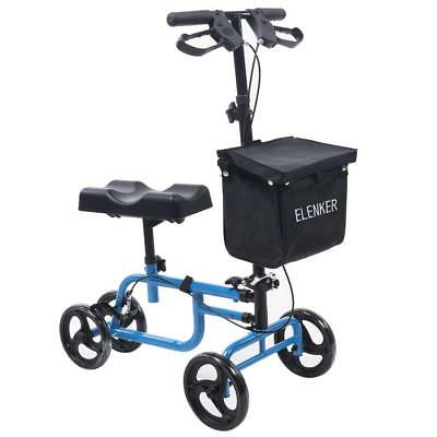 ELENKER Economy Knee Walker Steerable Medical Drive Scooter Crutch Alternative