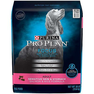 Purina Pro Plan Focus Adult Sensitive Skin and Stomach Formula Dog Food 30lbs