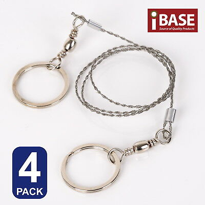 4x STAINLESS STEEL WIRE CAMPING SAW HIKING COMMANDO SURVIVAL EMERGENCY CUT ROPE