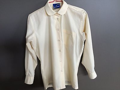 Waverley Christian College School Uniform Blouse Top Long Sleeve Lemon Size 12