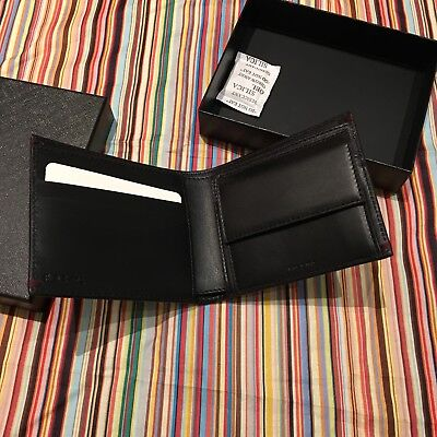 8c5f86814a6a Paul Smith PS 'Domino' print Black Leather COIN Wallet Billfold BNIB Gift  RRP149