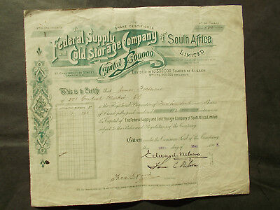 # 1  SHARE CERTIFICATE  of  SOUTH AFRICA