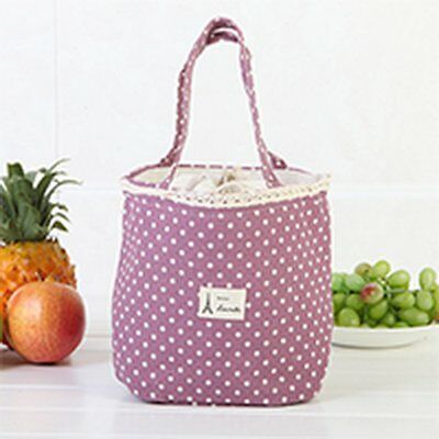 Portable Beam Insulation Lunch Bag Lunch Box Storage Cooler Bag IOI