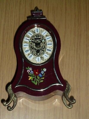 Europa miniature musical mantel clock for spares - incomplete & not working