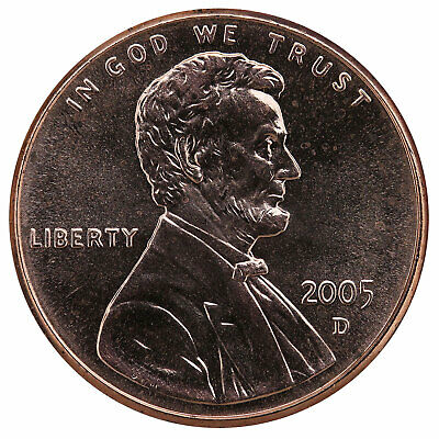 2005 D Lincoln Memorial Cent BU Penny US Coin