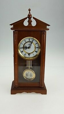 Vintage HIGHLANDS Regulator style Wall Mounted Pendulum Clock GWO with Key