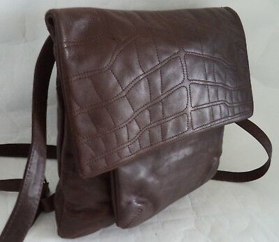 Lakeland Brown Leather Shoulder Bag Handbag Cross Body b195cf2cc8331