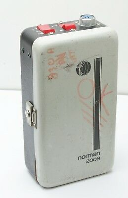 Norman 200B power pack Battery and Cables