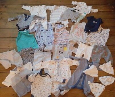 Super Bundle Baby Boys Clothes Birth To 1 Month Lovely Condition 25 Items