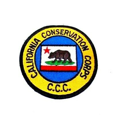 CCC California Conservation Corps Patch - Brown Bear Grizzly Bear