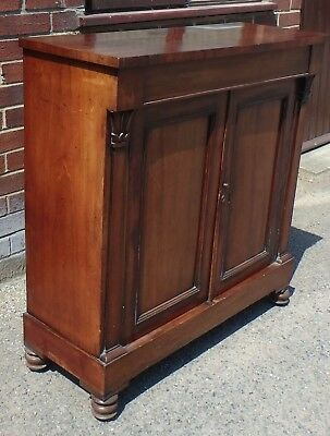 William IV solid Cuban flame mahogany pier cabinet hall console sideboard chest
