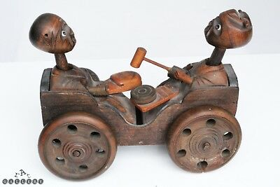 Antique Japanese Wooden Articulated Kobe Toy Car