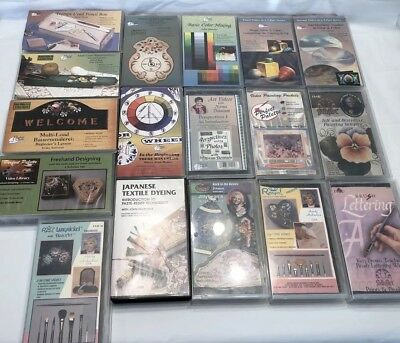 Lot of 17 Art Instructional VHS Videos Perfect Palette, Royal Langnickel, Plaid