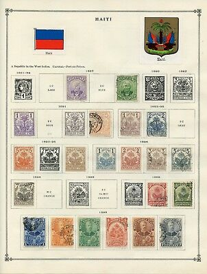 HAITI--Collection of 83 stamps mounted on pages