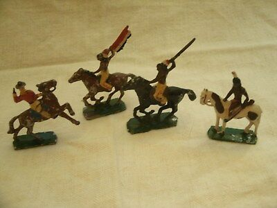 Lot of 4 Vintage Lead Cowboy & Indians made in Japan