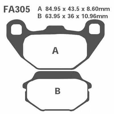 Brake Pads Sintered R EBC Mx For Kawasaki KFX 50 B KSF 4T 2007 - 2015