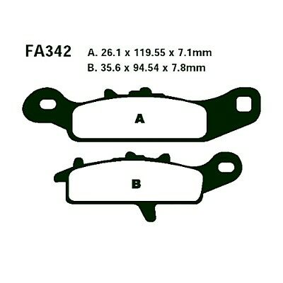 Brake Pads Sintered R EBC Fa342R For Kawasaki KFX 450 R KSF 2008 - 2014
