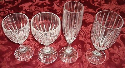 Park Lane by Mikasa Crystal Glasses set 1 of each Tea Water Wine Champagne