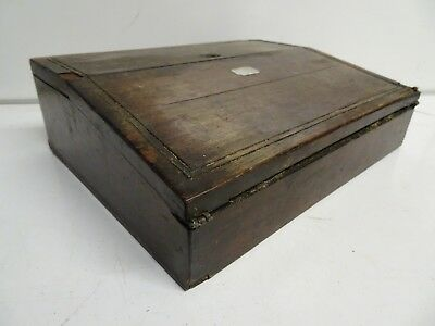 Antique Small Wooden Writing Slope for Restoration
