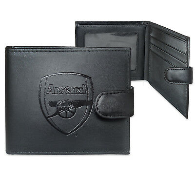 Arsenal FC Official Football Gift Boxed Leather Wallet Embossed Crest