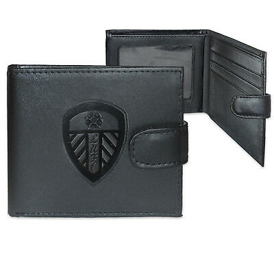 Leeds United AFC Official Leather Wallet Embossed Crest Gift Boxed