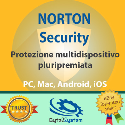 Norton Security 1, 3, 5, 10 Dispositivi - 2018 2019 - 1, 2, 3 ANNI - ESD NUOVA