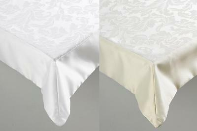 Jacquard Damask Floral Tablecloth Banqueting Quality Table Cover Red,White,Beige
