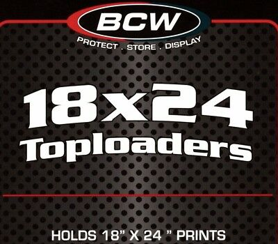 20 BCW 18X24 Top Load Holders Print Poster Photo Toploaders  Protector