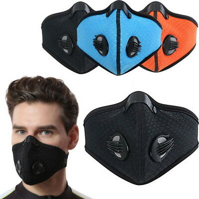 Half Face Respirator Mask Dust Proof Filtered Activated Carbon Filtration Ski
