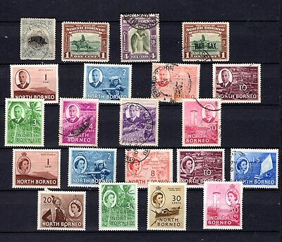 North Borneo. 1909-1954. A selection of MH and used stamps.
