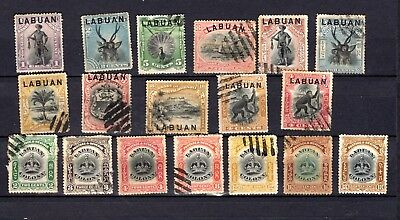 Labuan.  QV. 1894-1902. A selection of mostly used stamps.