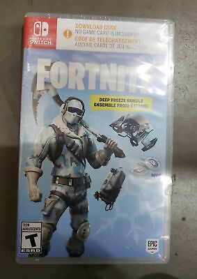 Fortnite: Deep Freeze Bundle [Nintendo Switch Frostbite Outfit 1000 V-Bucks] NEW