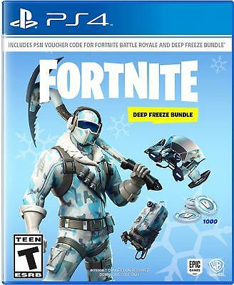 Fortnite Deep Freeze Bundle Sony PlayStation 4 PS4 Frostbite Outfit 1000 V-Bucks