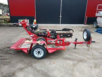 2013 Barreto 912 Walk Behind Trencher With trailer