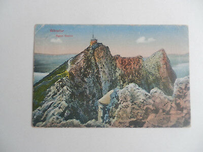 Kg V Post Card The Signal Station, Gibraltar, Used In Uk