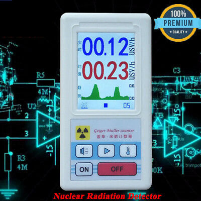Geiger Counter Nuclear Radiation Detector Dosimeter Meter Beta Gamma X-ray Test