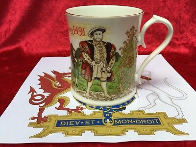 Aynsley Commemorative China Mug, Henry VIII 500th Anniversary, Limited Ed. 2,500
