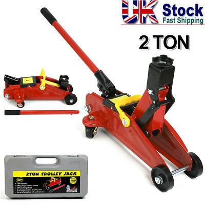 2 Ton Low Profile Hydraulic Trolley Floor Jack Garage Race Lifting Car with Case