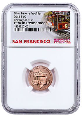 2018-S Copper-Plated Zinc Reverse Proof Lincoln Cent NGC PF70 Red FDI SKU55088