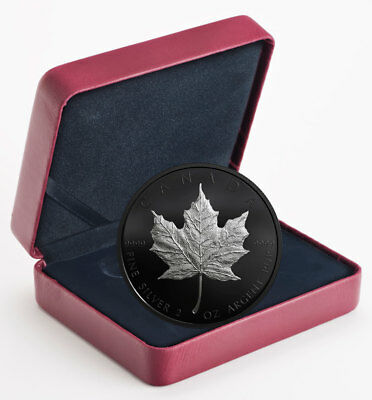 2019 Canada 2 oz Silver Maple Leaf Black Rhodium-pltd $10 GEM Proof OGP SKU55657