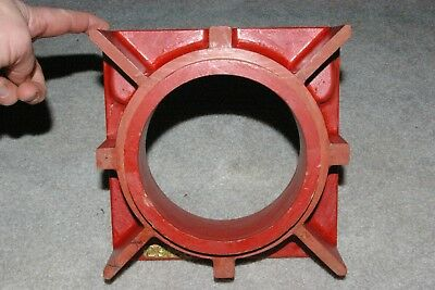 Old Square Wood Pattern Industrial with flanged supports Foundry Casting Mold
