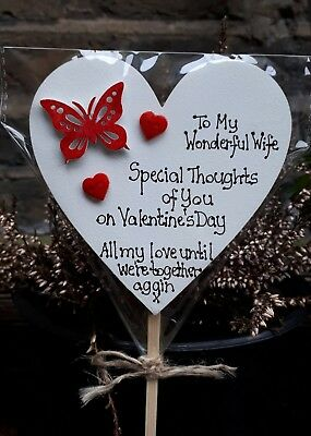 Special Thoughts Butterfly Memorial grave ornament- personalised, waterproof