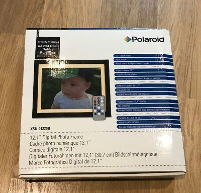 "Polaroid Digital 12.1"" Photo Frame XSU-01220B   Built In Speaker  Remote Control"