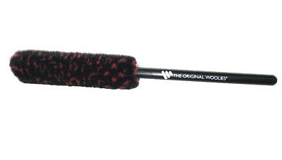"Wheel Woolies® Small Detailing brush 8"" Red / Black head by Braun automotive"