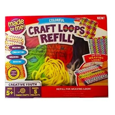 Made By Me! Craft Loops Refill For Weaving Loom 3.5oz of Colorful Loops *NEW*