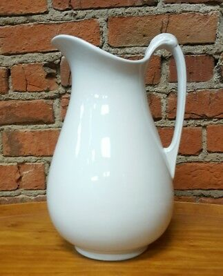 """Antique J&G Meakin White Royal Ironstone Pitcher - 12.5"""" England"""